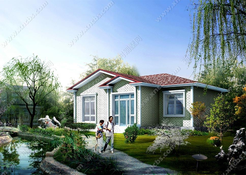 简约单层小别墅 一层农村房屋设计图纸