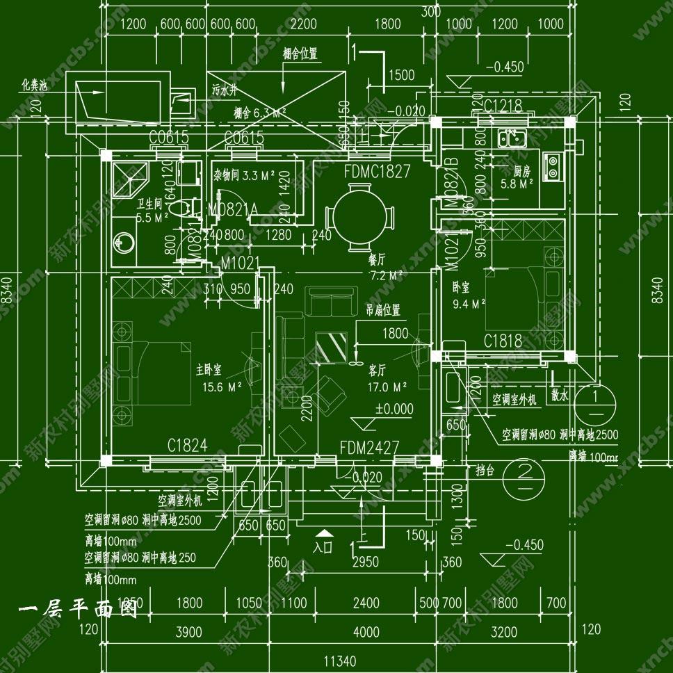 建 筑 图:建筑施工说明,门窗表,门窗详图,一层平面图,屋顶平面图,正立面图,背立面图,左立面图,右立面图,剖面图,节点详图 结 构 图:结构设计说明,基础平面布置图,一层柱平面布置图,一层梁结构平面图,一层板结构平面图,屋顶结构平面图,砖墙墙体连接详图,半砖内隔墙基础图 电 气 图:电气设计说明,统合布线系统图,一层电气平面图,基础接地平面布置图,屋顶防雷平面图,钢筋混凝土预埋件做法,卫生间局部等电位联结示例图,有线电视系统图 给排水图:给排水设计说明,一层给排水平面图,屋顶给排水平面图,卫生间给排水详