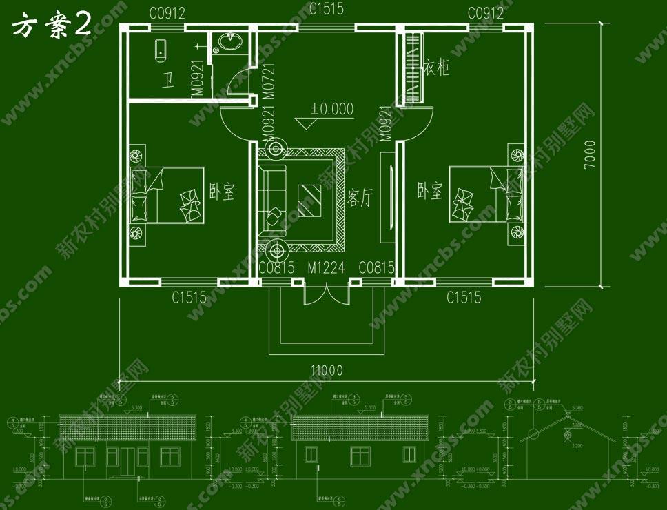 图:  首层户型:  本套现成别墅设计图符合设计规范要求,详细包含房屋