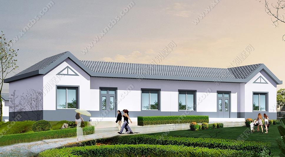 坡屋结构一层农村住宅设计图