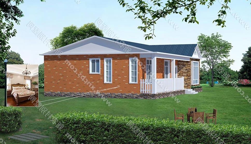 一层农村房屋设计图 单层自建房效果图及平面图 农村平房全套图纸图片