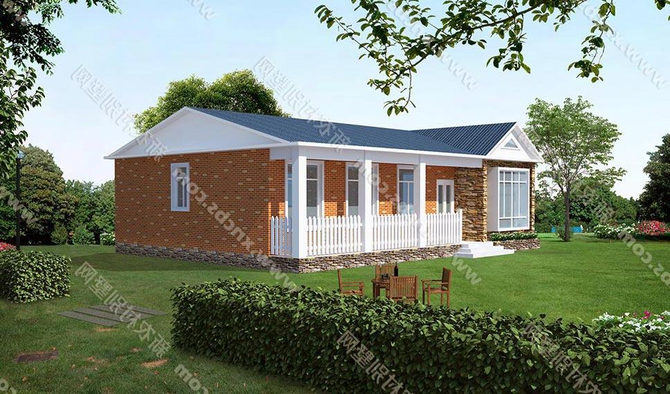 一层农村房屋设计图 单层自建房效果图及平面图 农村平房全套图纸