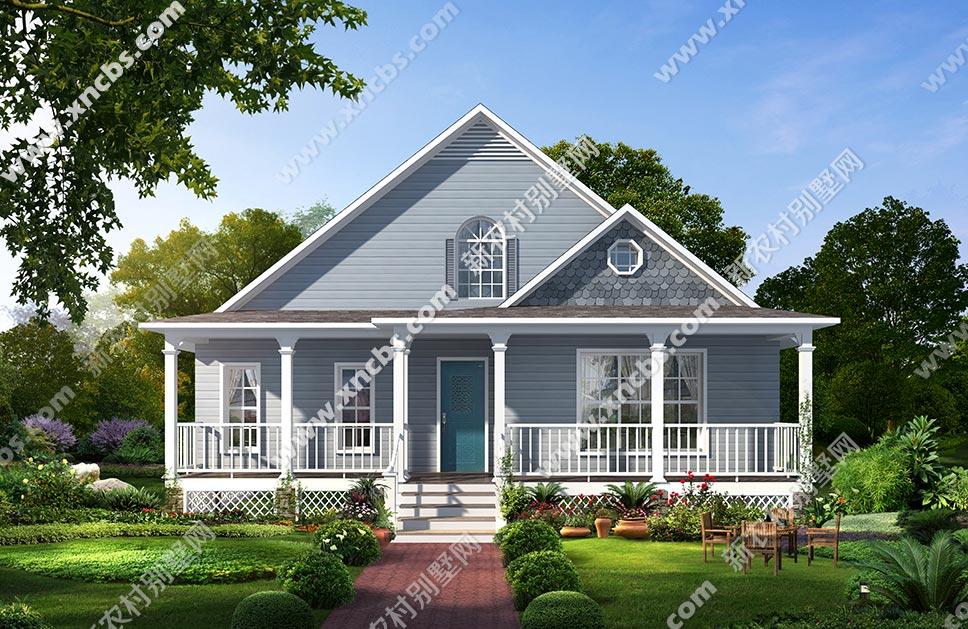 带精英一层半度假小外廊设计图附漂亮别墅轻钢阁楼设计图片