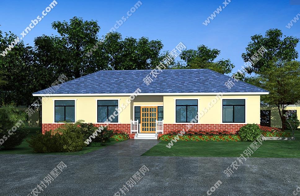 一层方形户型效果图18米长单层外观房屋房子北京建筑设计论坛图片
