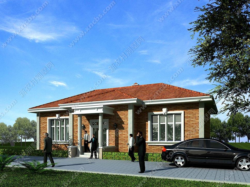 一层房屋设计图及效果图 单层农村自建小别墅全套设计