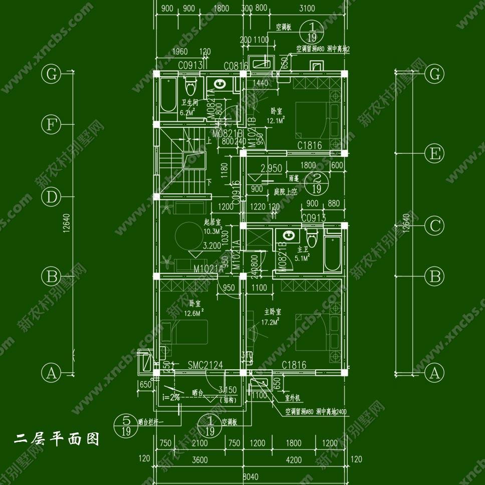清新简洁农村两层房屋设计图 二层半农村房子图片功能齐全_新农村别墅