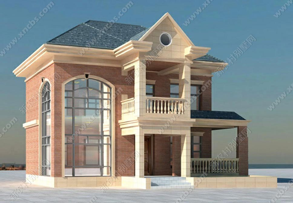 農村兩層樓中樓設計圖 二層樓中樓效果圖_新農村別墅網