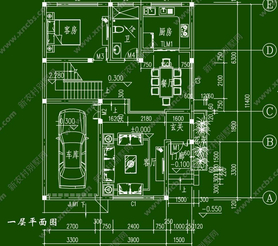 农村房屋两层半设计图纸展示