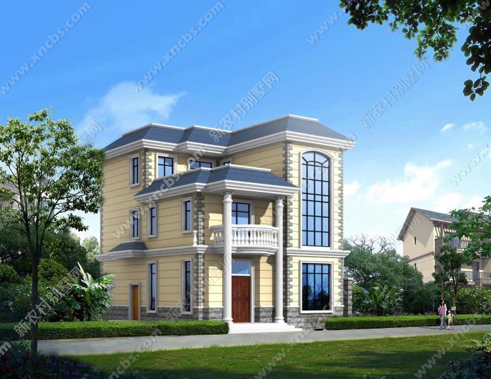 三层农村别墅全套设计图 含楼中楼方案