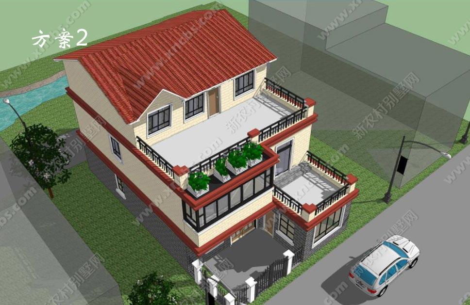 两层半农村房屋设计图全套 乡村三层房子建筑图