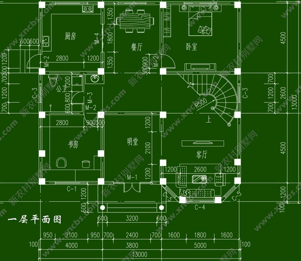 楼中楼复式别墅设计图,效果图
