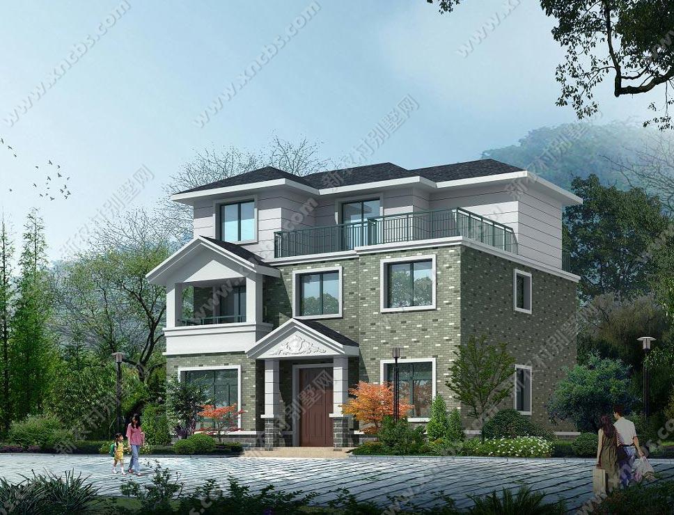 乡村三层房子设计图 农村三层房屋设计图效果图