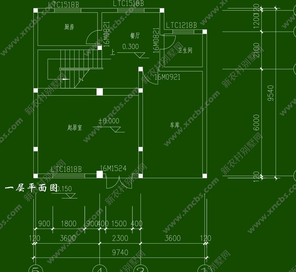 农村三层带院子三间房屋设计图展示图片