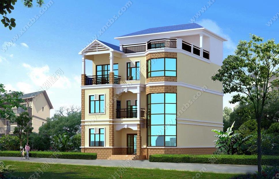 三层半楼中楼房屋设计图纸_新农村别墅网