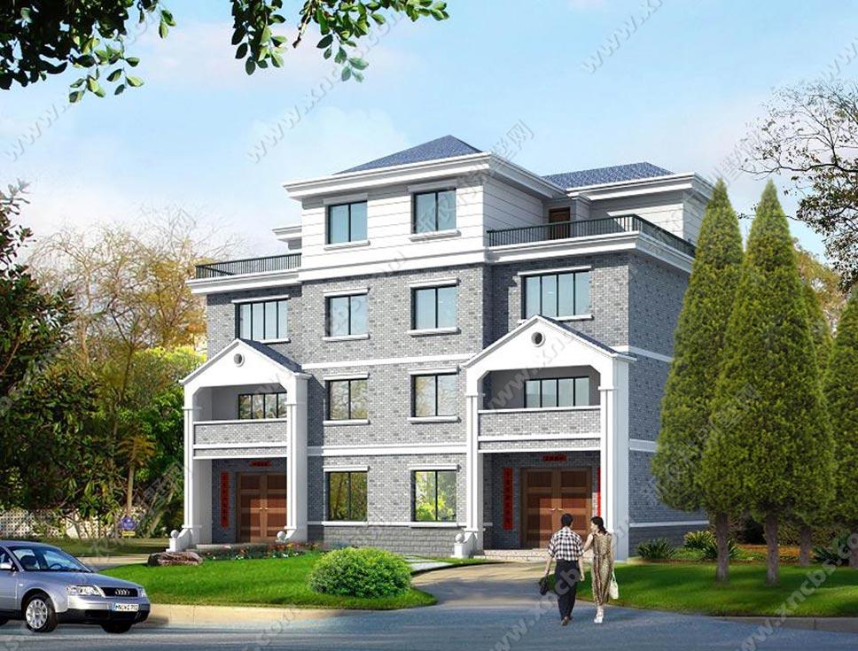半四层兄弟连体房屋双拼建筑施工设计图平面设计a兄弟图片