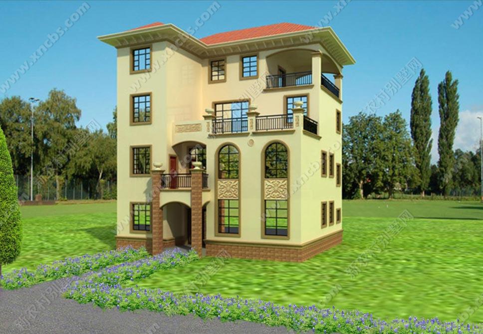 多功大零件四层露台设计图、效果图_新creo绘制图别墅v零件工程图片
