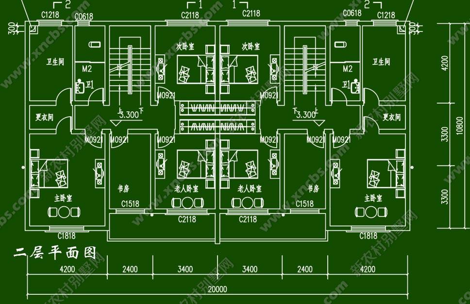 design 平面图别墅一层平面图图纸一层别墅设计平面图  二层坡顶别墅图片