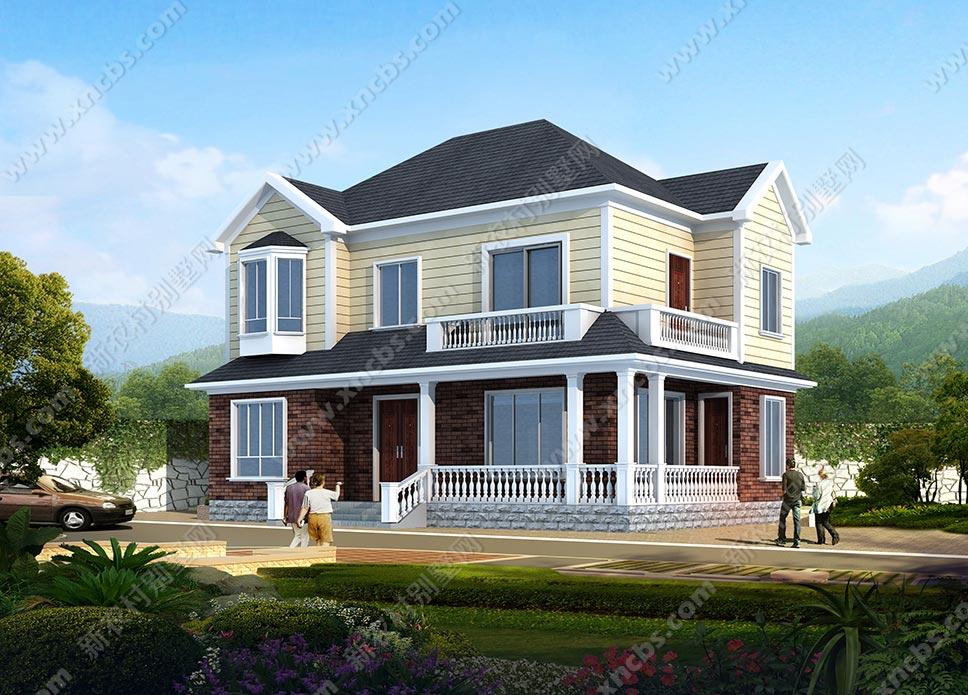 一层别墅外观设计图_构思独特、外观好看的两层精致别墅设计图、效果图_新农村别墅网