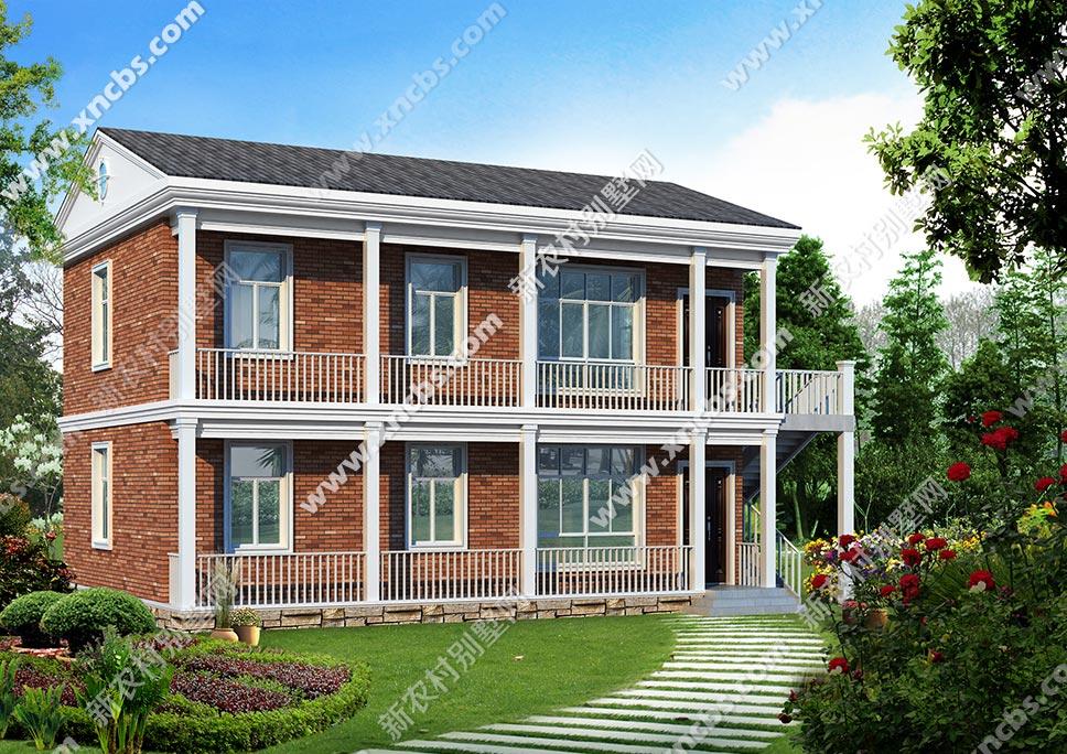 两层带走廊的房子