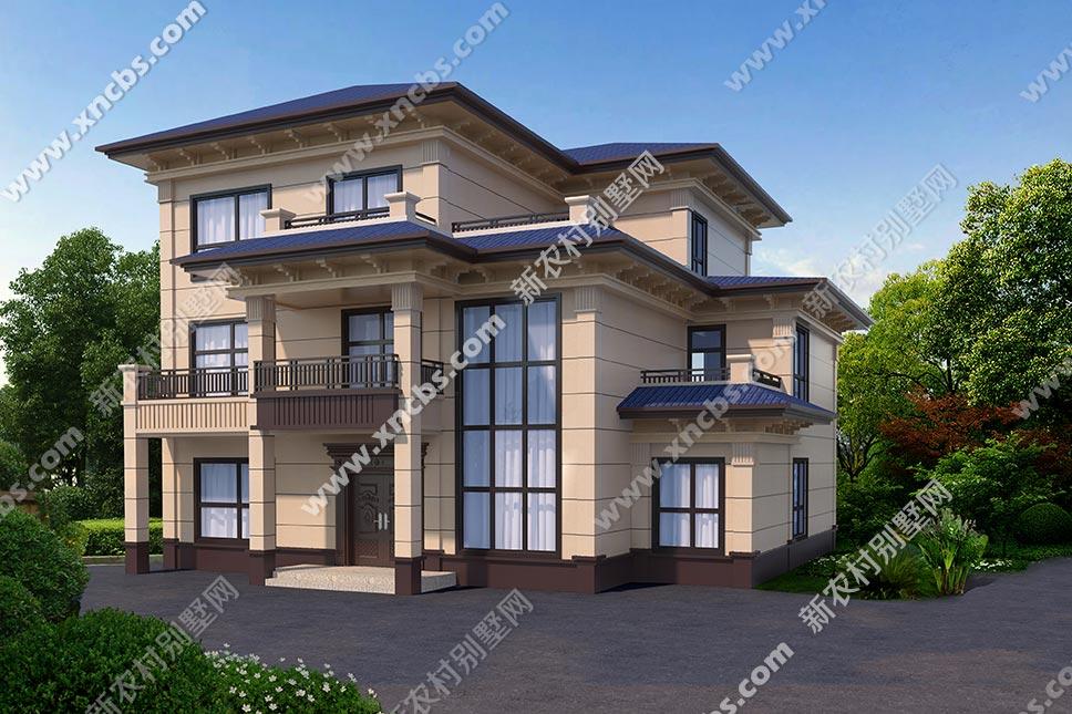 带露台3层房子